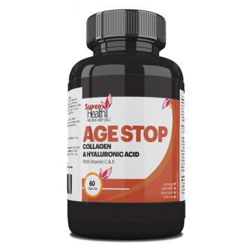 Age Stop Anti Aging Capsules Hydrolysed Collagen Protein Powder with Hyaluronic acid and Vitamin C & E – Anti-Wrinkles, Strength for Joints, Bone, Skin, Hair,Nails